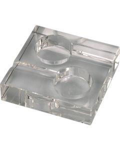 Square Crystal Ashtray