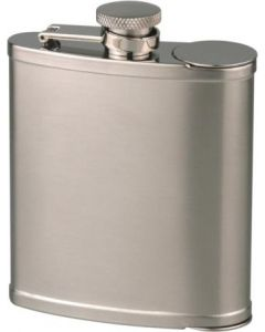 Flask in stainless steel, 6oz/180ml made by Hip