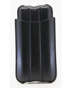 Cigar case in black leather