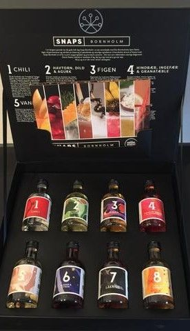 Miniture Gift box with Snaps Bornholm (Danish Schnapps)