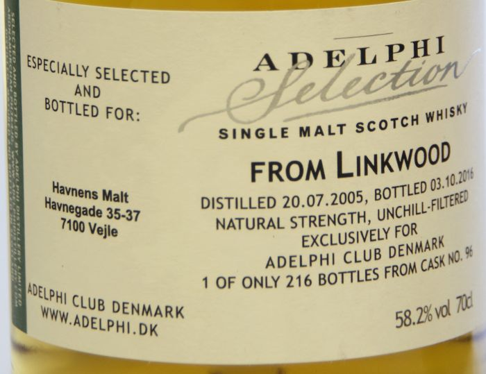 Adelphi Selection, From Linkwood 11 Years 70 cl. 58,2%