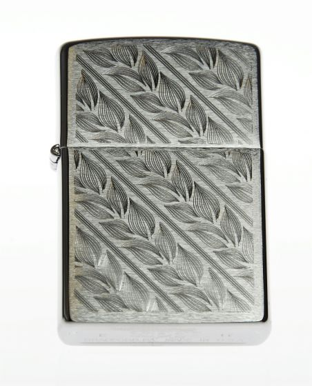 Zippo lighter Leaves and lines