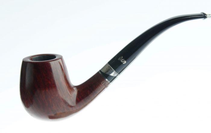 Stanwell black'n silver nr. 83 made in denmark