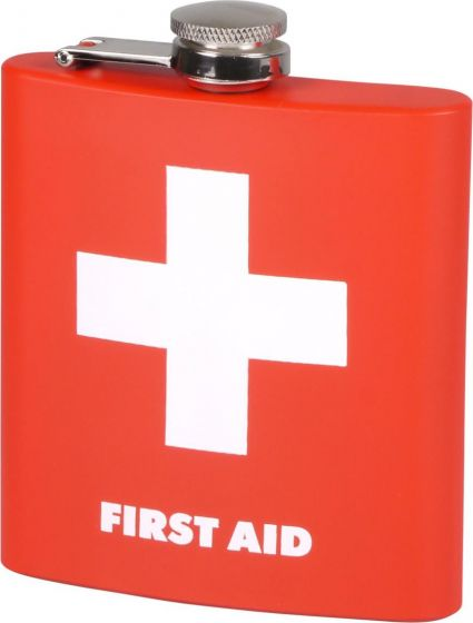 "Hip Flask ""First Aid"" 6oz"
