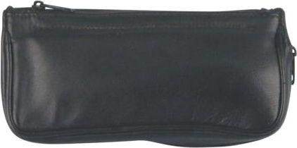 Tobacco- and pipe pouch in genuine leather