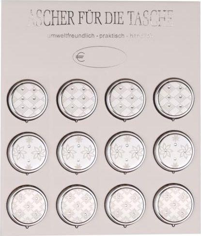 Small metal pocket ashtrays (1pcs)