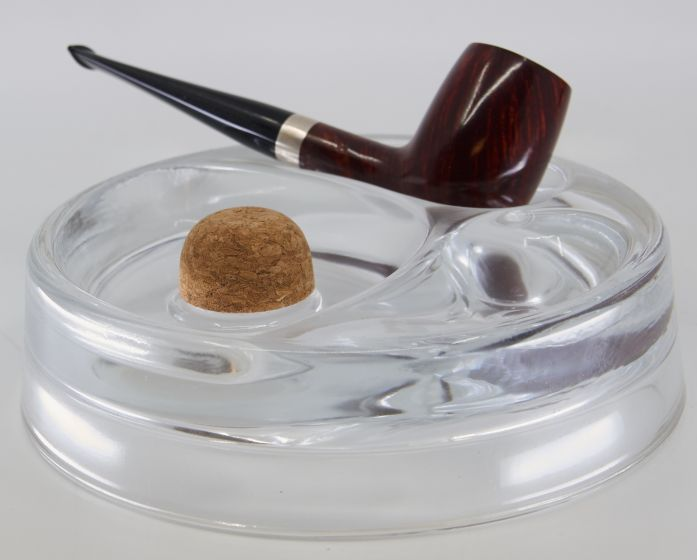 Round Pipe ashtray in clear glass