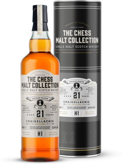 The Chess Malt Collection, Craigellachie 21 Y.O., 52,3% 70 cl.