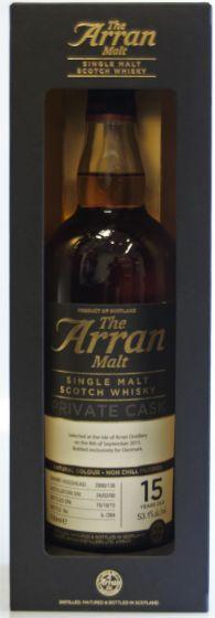 The Arran Malt, Private Cask 15 Years, 70 cl. 53,1%