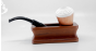 Calabash pipe stand in teak wood
