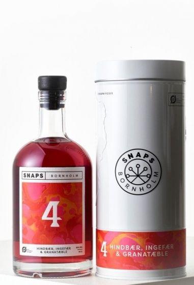 Snaps Bornholm, Rasberry, Ginger & Pommegranate, 40% 50 cl.