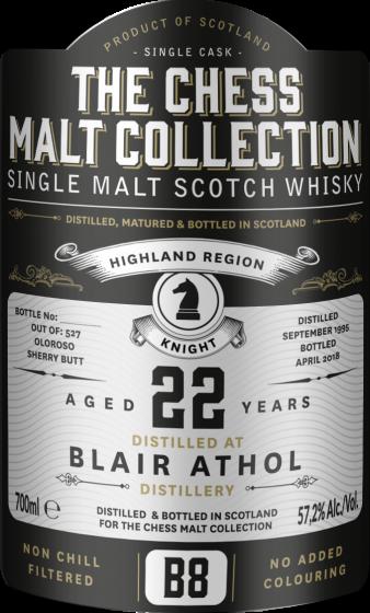 The Chess Malt Collection, Blair Athol 22 Y.O., 57,2% 70 cl.