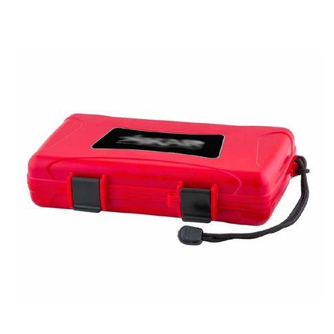 Xikar Rejsehumidors, Travel Humidor 5 Red No Label