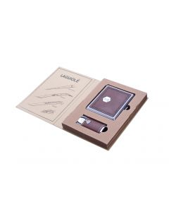 Lighter & cigarette case - giftset (brown)