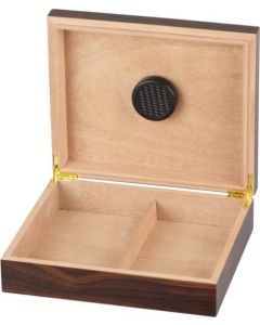 Humidor in walnut finish for approx. 20 cigars