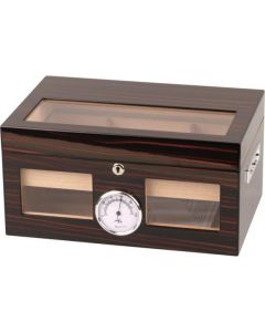 Humidor ebony finish for approx. 100 cigars