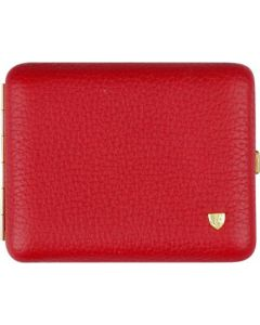 Cigarette case in red leather for 18 cigarettes